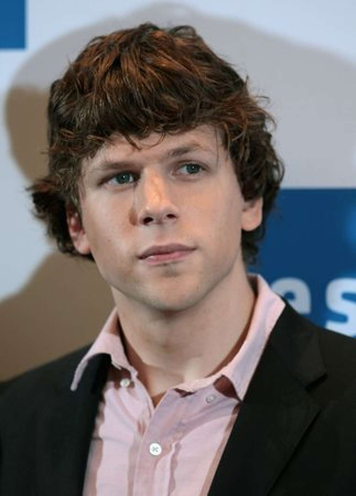 Actor Jesse Eisenberg attends a photocall to promote the film 'The Social Network' at Hotel Adlon on Tuesday in Berlin, Germany.