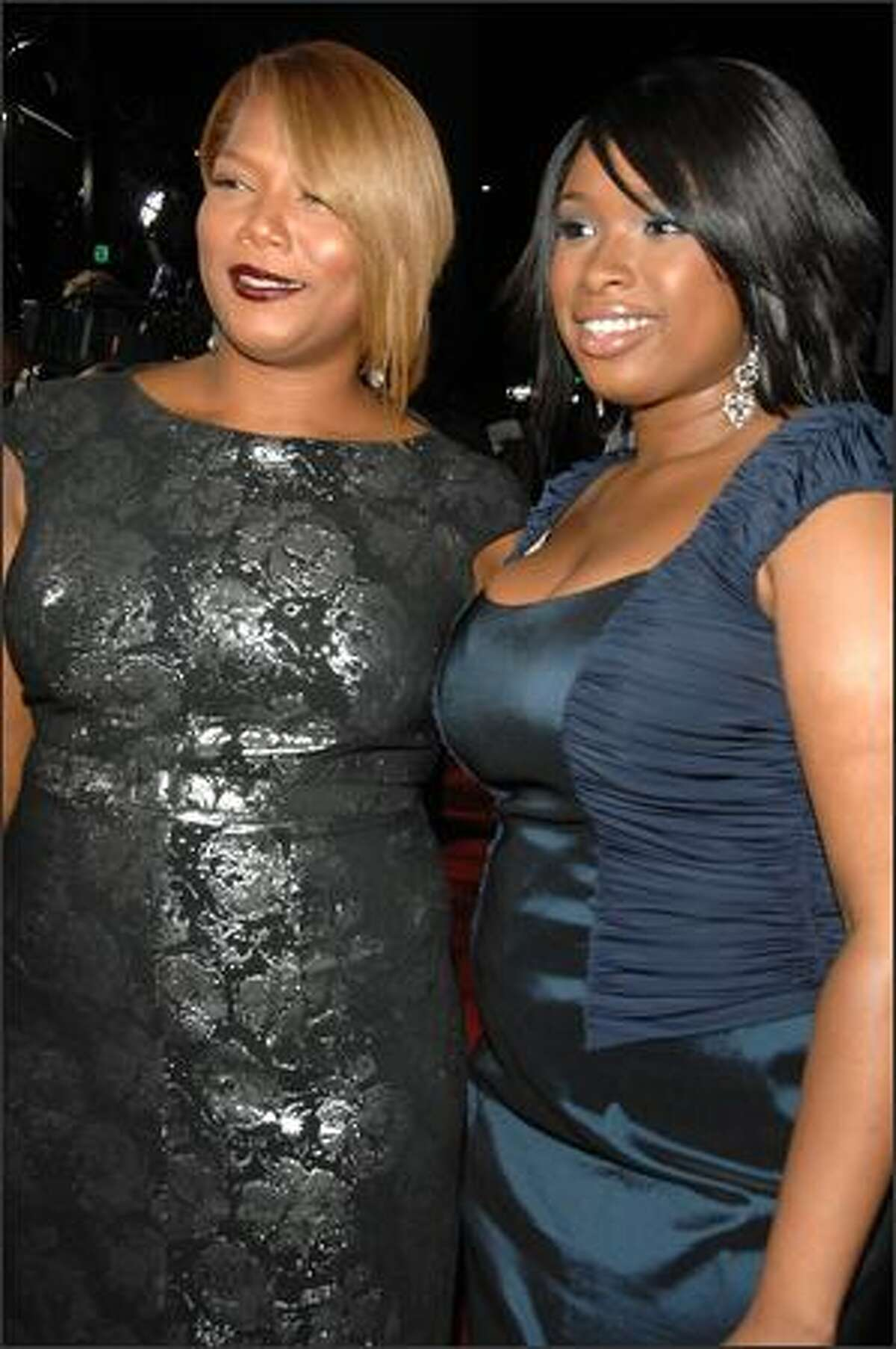 Actresses Queen Latifah and Jennifer Hudson arrive at the premiere of Fox Searchlight's