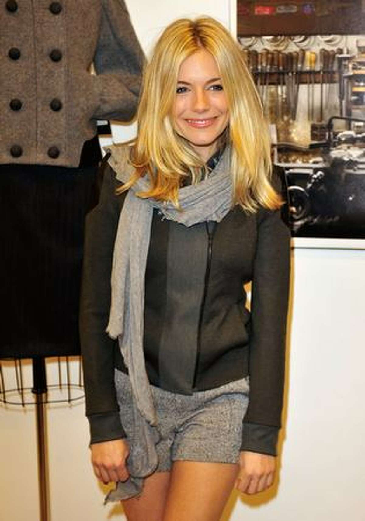 Actress Sienna Miller attends the Rag & Bone Soho store opening in New York City.