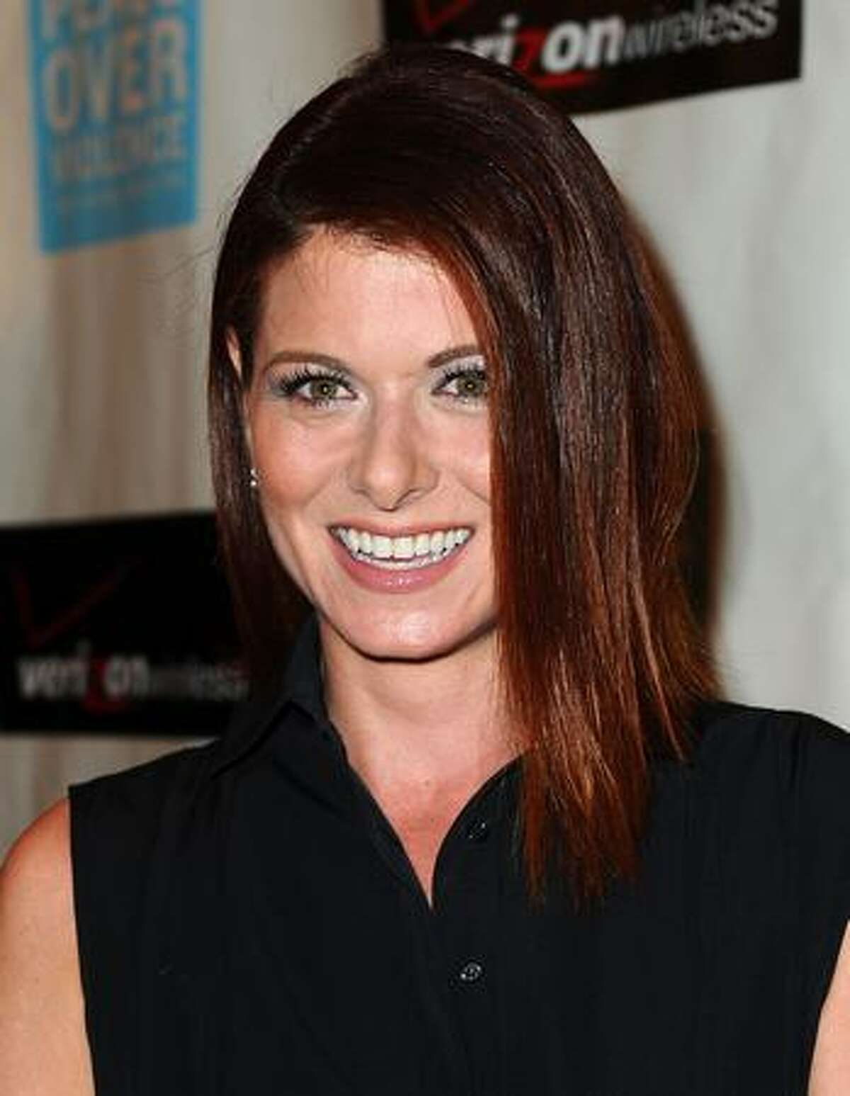 Actress Debra Messing arrives at Peace Over Violence's 38th Annual Humanitarian Awards Dinner in Beverly Hills, California.