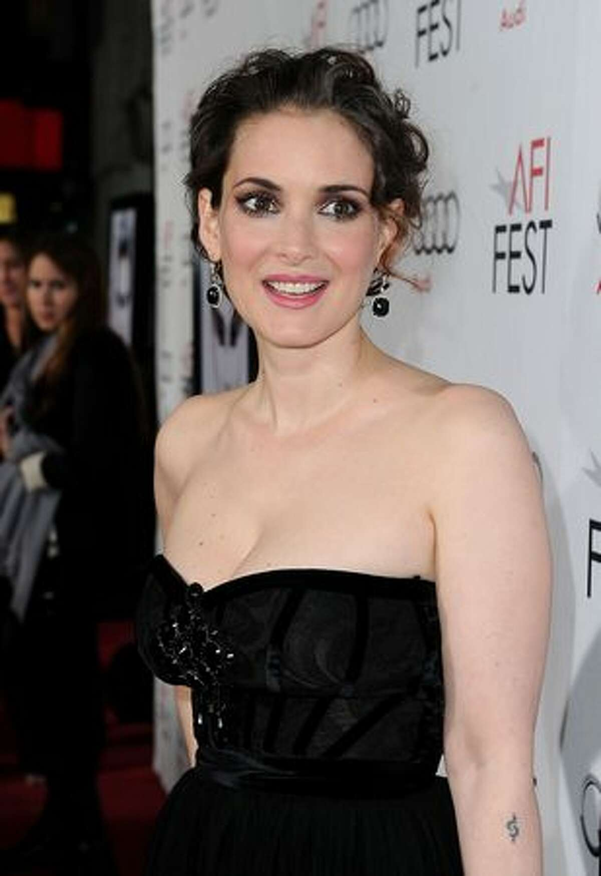 """Actress Winona Ryder arrives at the """"Black Swan"""" closing night gala during AFI FEST 2010 presented by Audi held at Grauman's Chinese Theatre in Hollywood, California."""