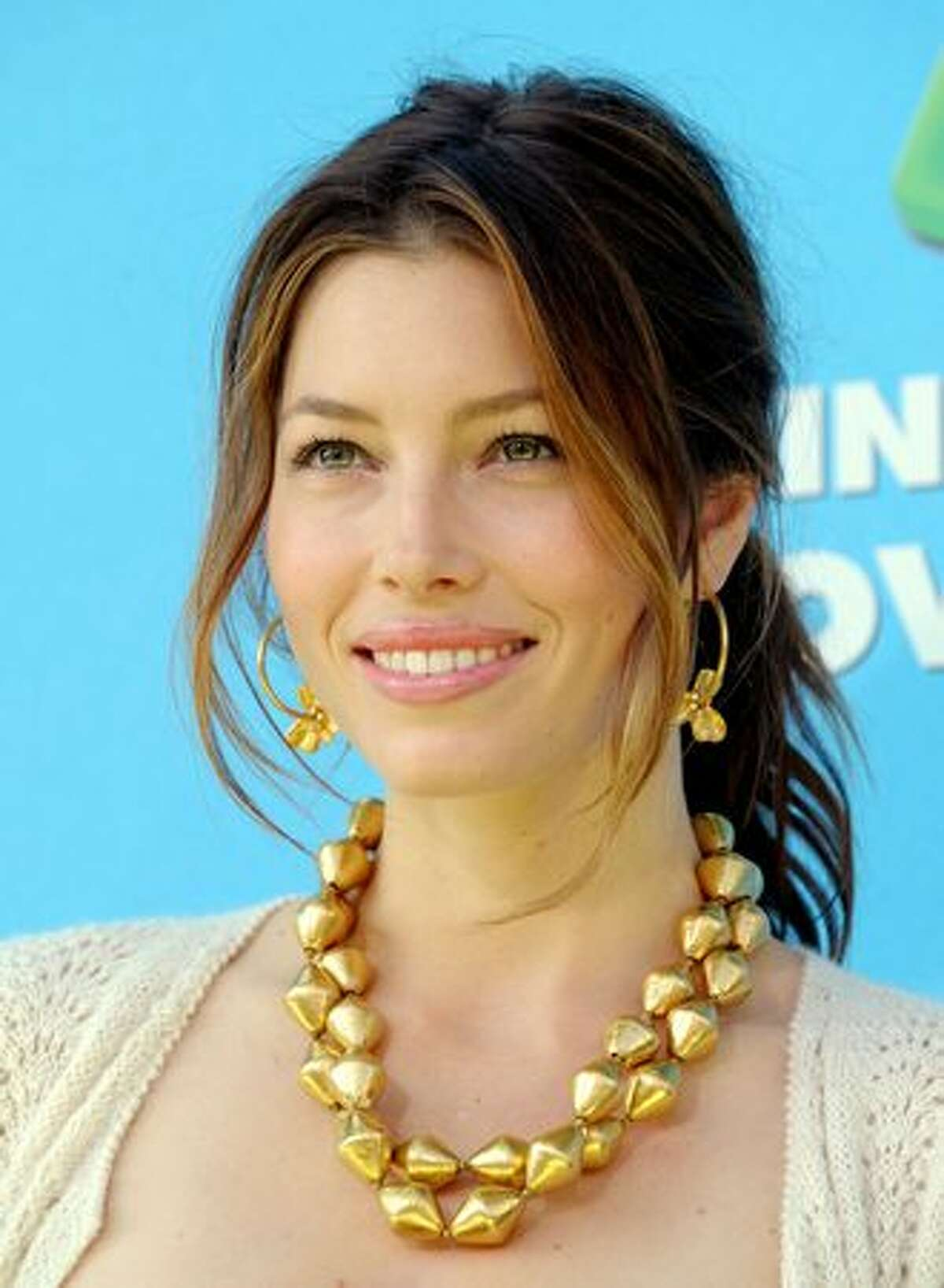"""Actress Jessica Biel arrives at the premiere of Sony Pictures' """"Planet 51"""" at the Village Theater in Los Angeles, California."""