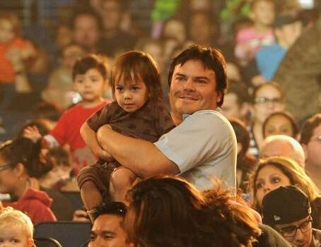 Actor Jack Black and son Thomas Black attend Yo Gabba Gabba! Live! There's A Party In My City at Nokia L.A. Live in Los Angeles, California. Photo: Getty Images / Getty Images