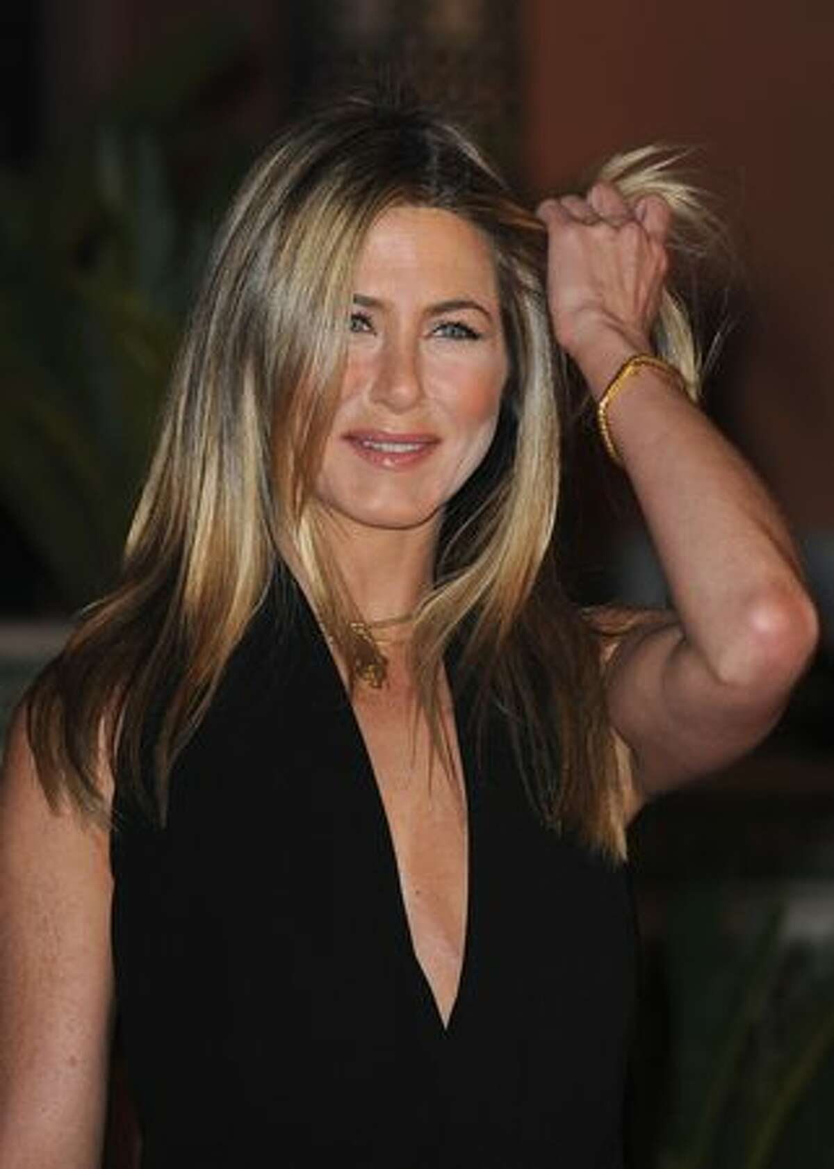 Actress Jennifer Aniston attends the Mamounia hotel inauguration in Marrakech, Morocco.