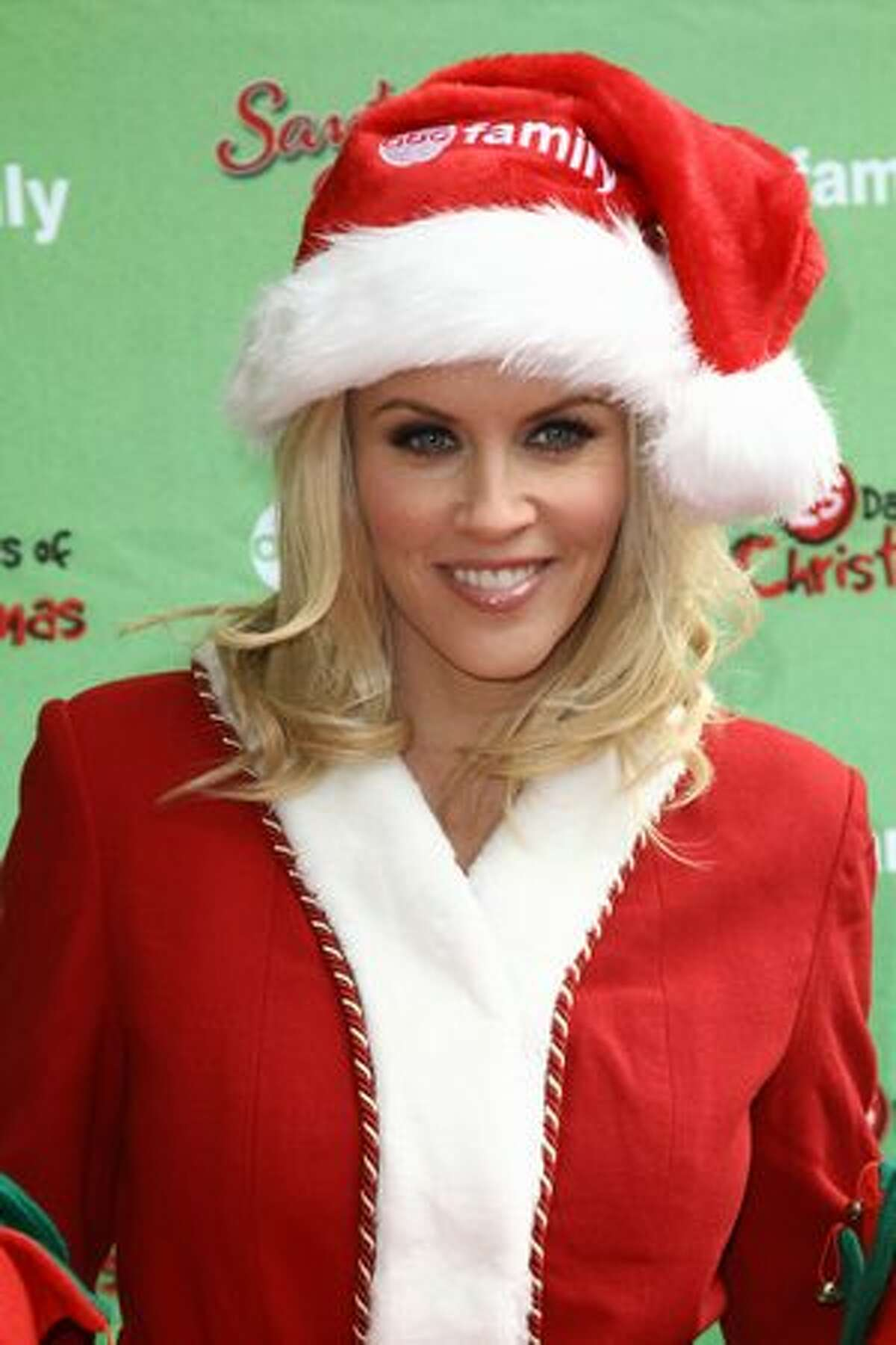 Actress Jenny McCarthy attends the ABC Family's world record elf party to promote Santa Baby 2: Christmas Maybe at Bryant Park in New York City.