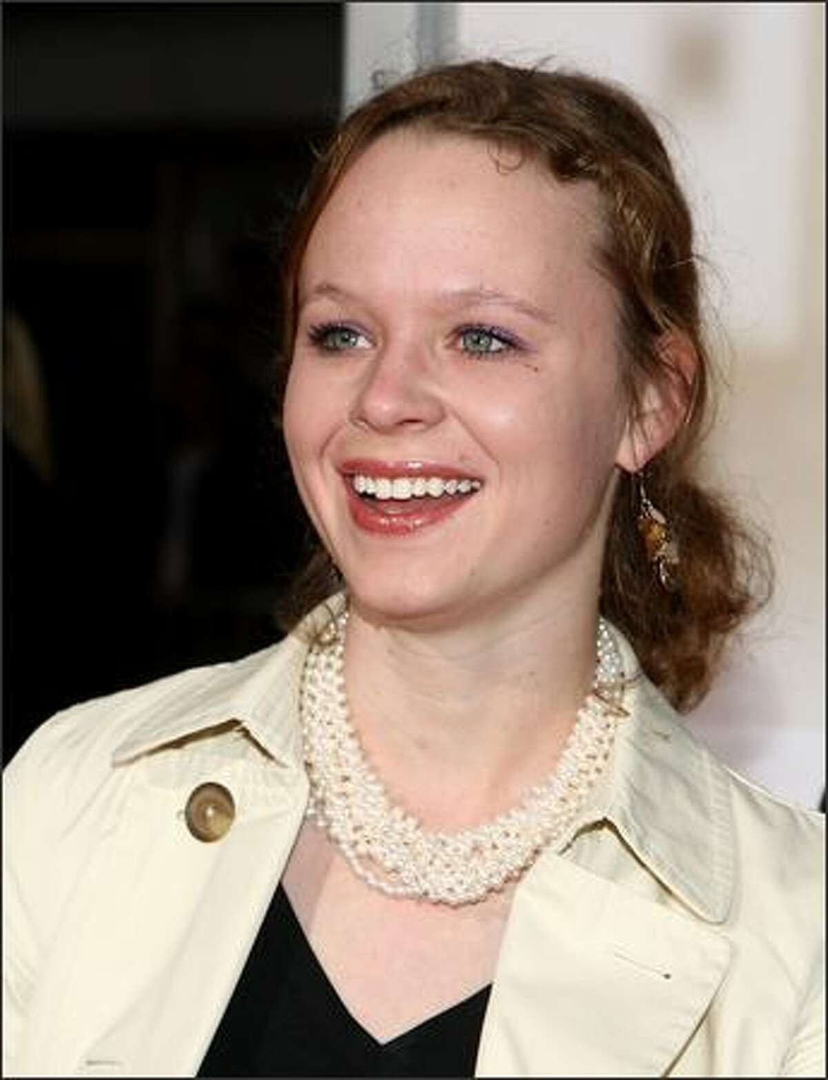 Actress Thora Birch arrives at Paramount Vantage's Los Angeles premiere of 'Revolutionary Road' held at Mann Village Theater in Westwood, California.