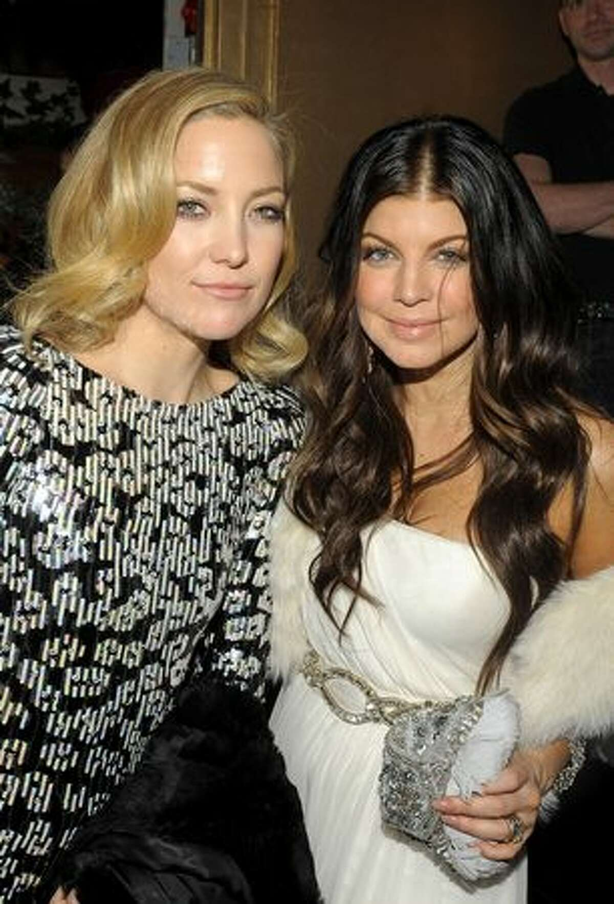 Actress Kate Hudson and singer Fergie attend the after party of the New York premiere of