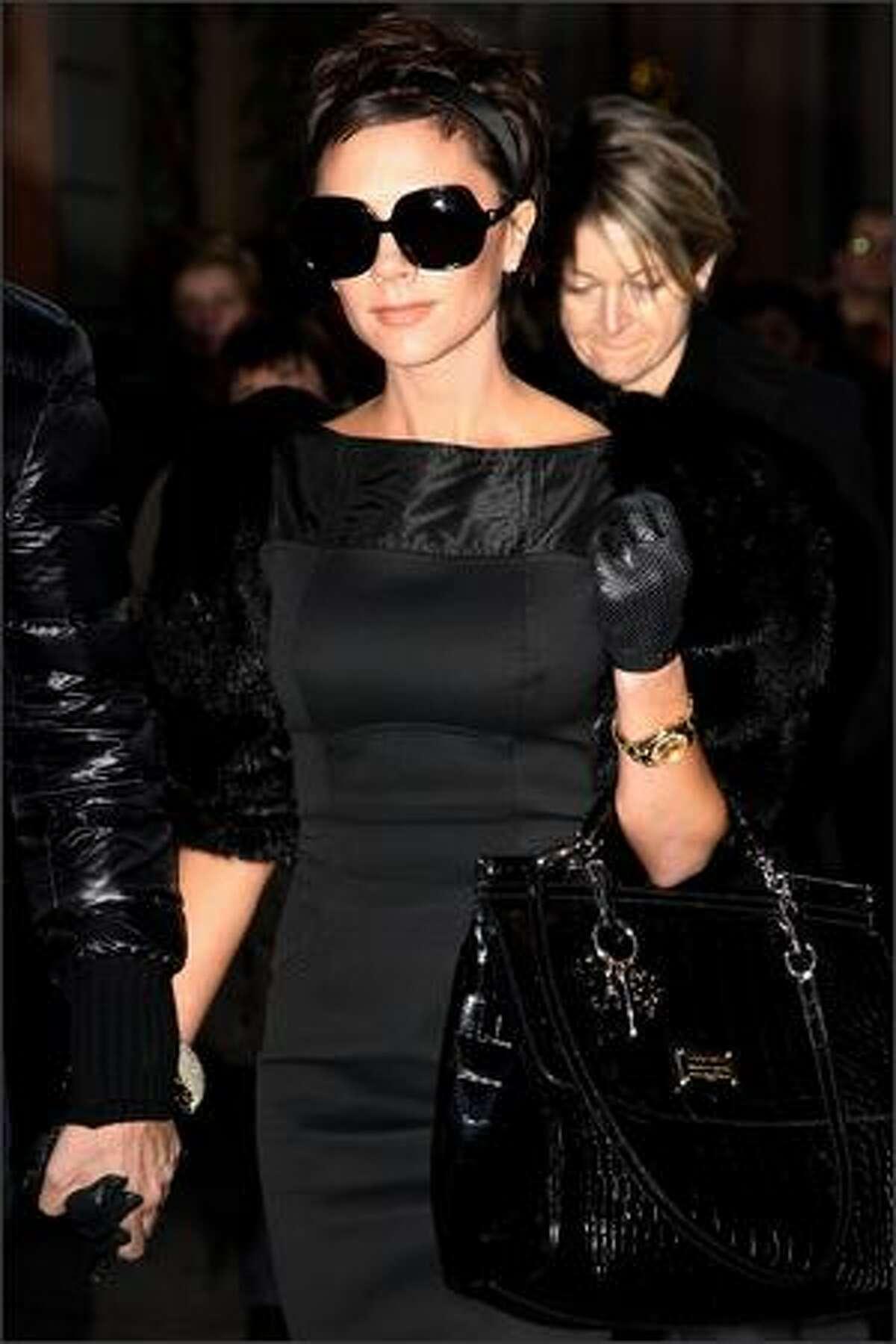 Singer Victoria Beckham is seen December 21, 2008 in Milan, Italy.