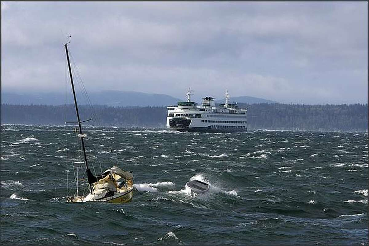 Jerry Mingot of Port Townsend left Tacoma at 6:00 am on his 24-foot Ranger to Port Townsend when he got caught in high winds.