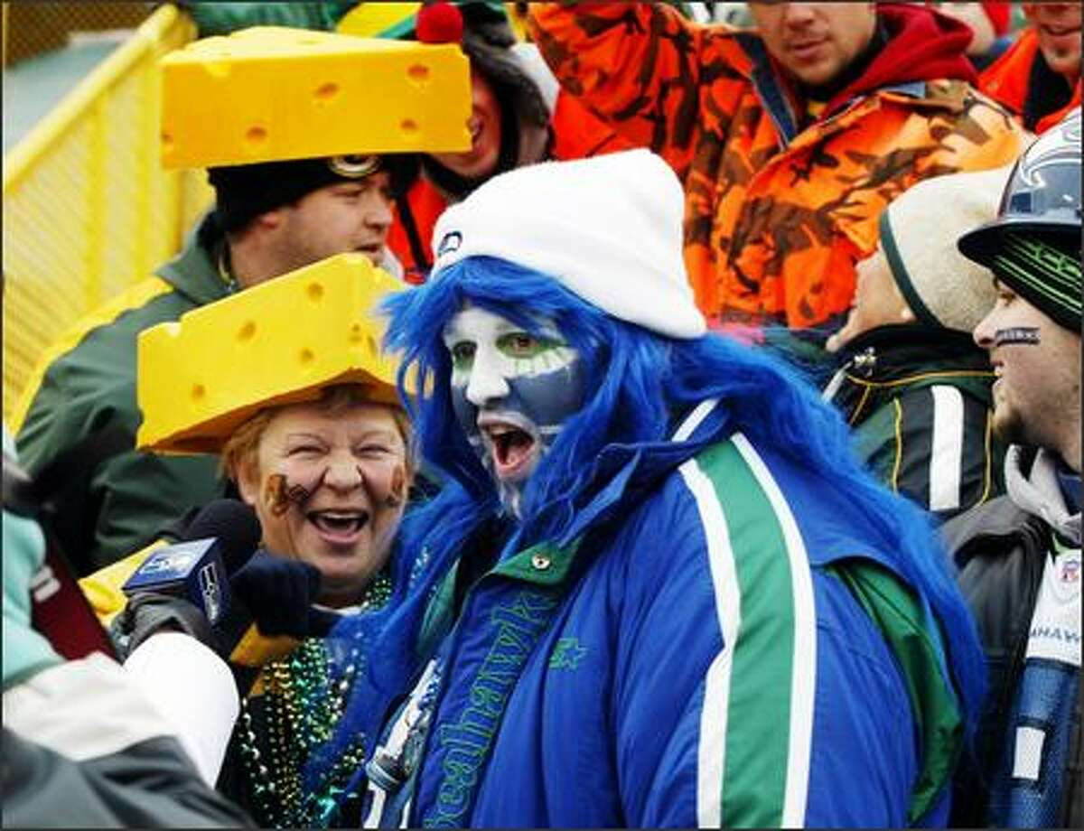 The occasional Seahawks fan stood out in a sea of cheeseheads at Lambeau Field, where the Packers enjoy fan support unrivaled anywhere else in the NFL.