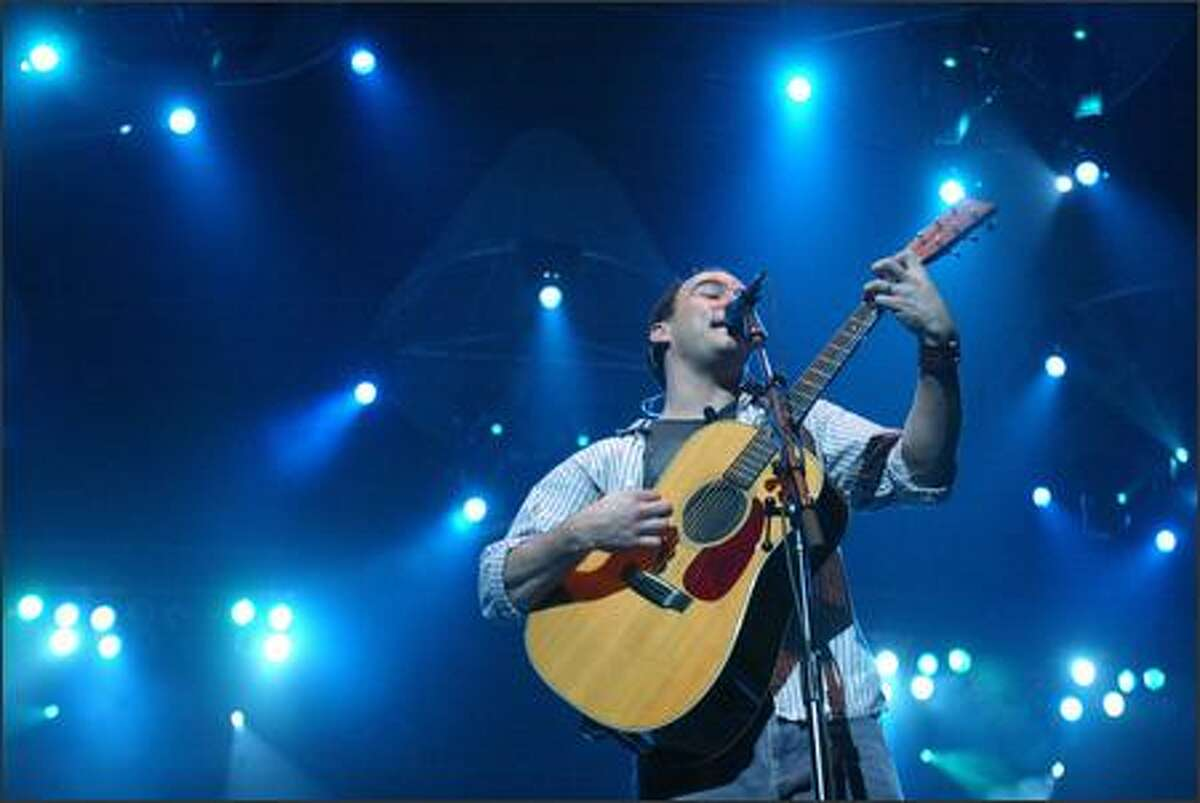 Dave Matthews gets the full blue-light treatment at KeyArena.