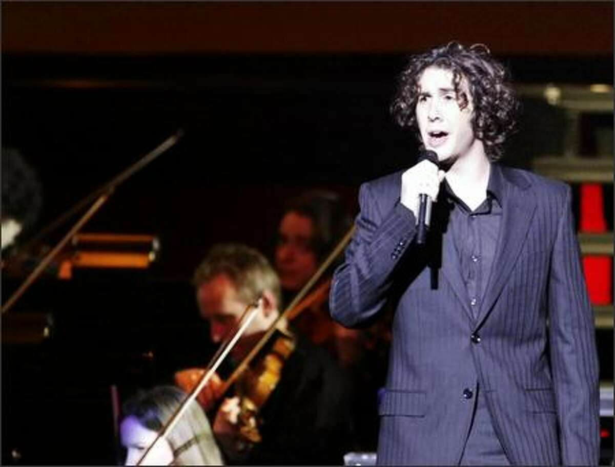 Josh Groban performed 15 songs at the Paramount on Saturday night.