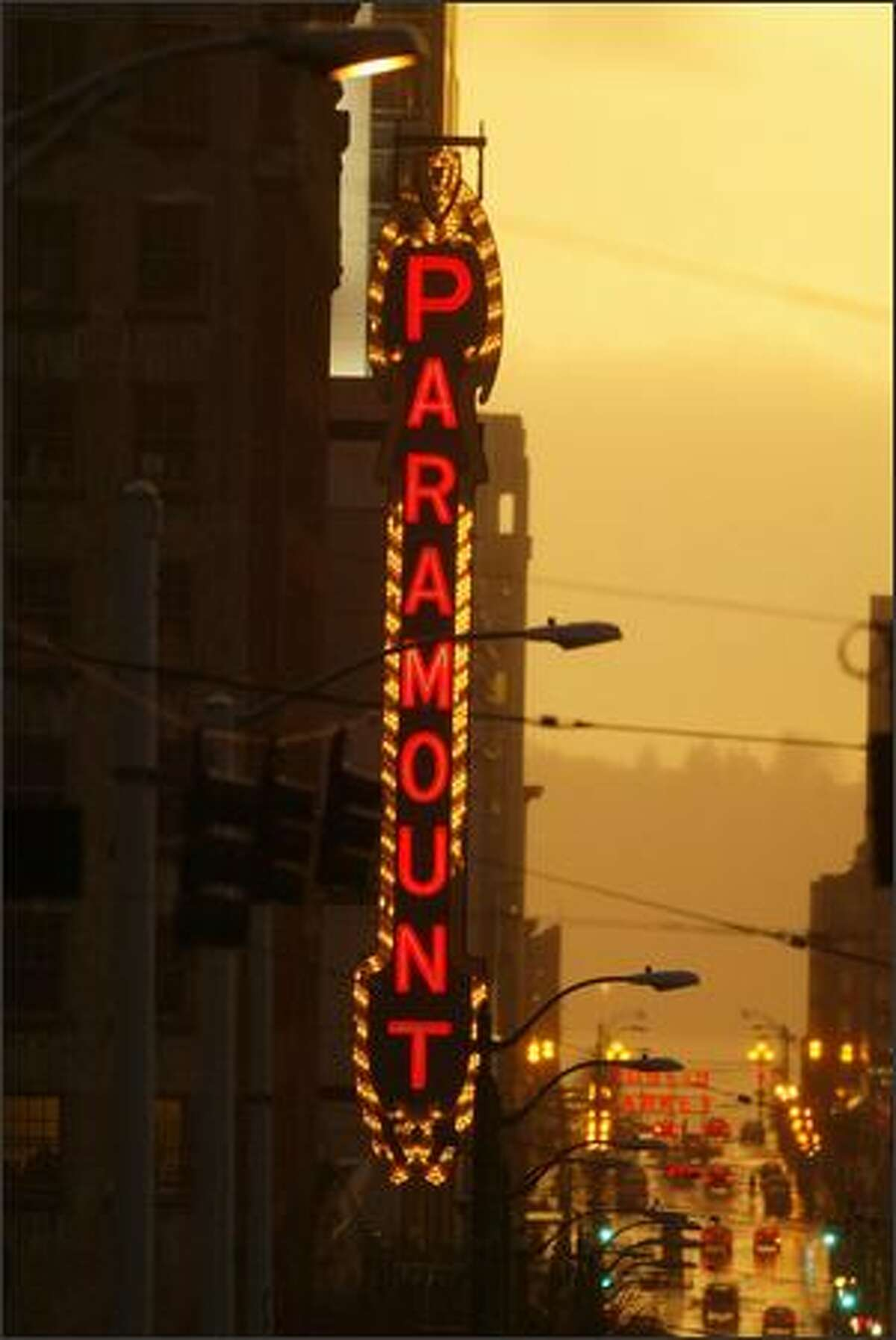 Paramount Threatre on Pine Street in Seattle.