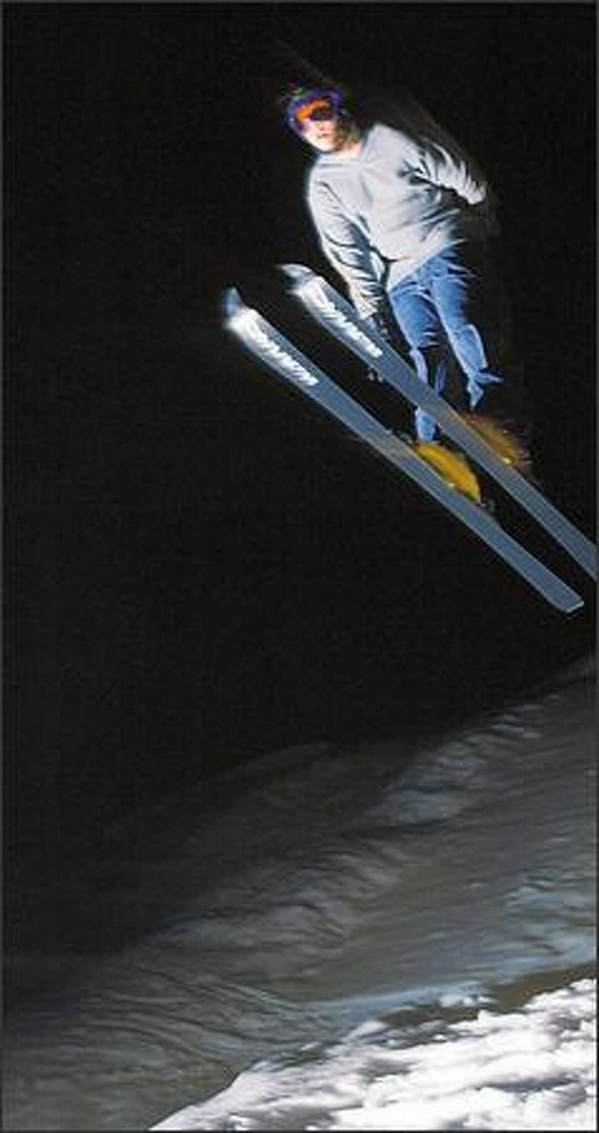 Jesse Boyd, 13, soars off a Leavenworth Ski Hill jump.