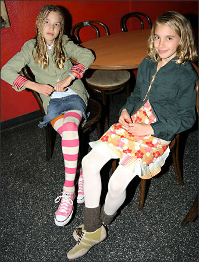 Seattle rock band Smoosh is made up of sisters Asya, 12, and Chloe, 10. Smoosh performed at The Showbox Thursday night, opening for the rock band The Presidents of the United States. Photo: Rae Holtsbaum, Seattle Post-Intelligencer / Seattle Post-Intelligencer