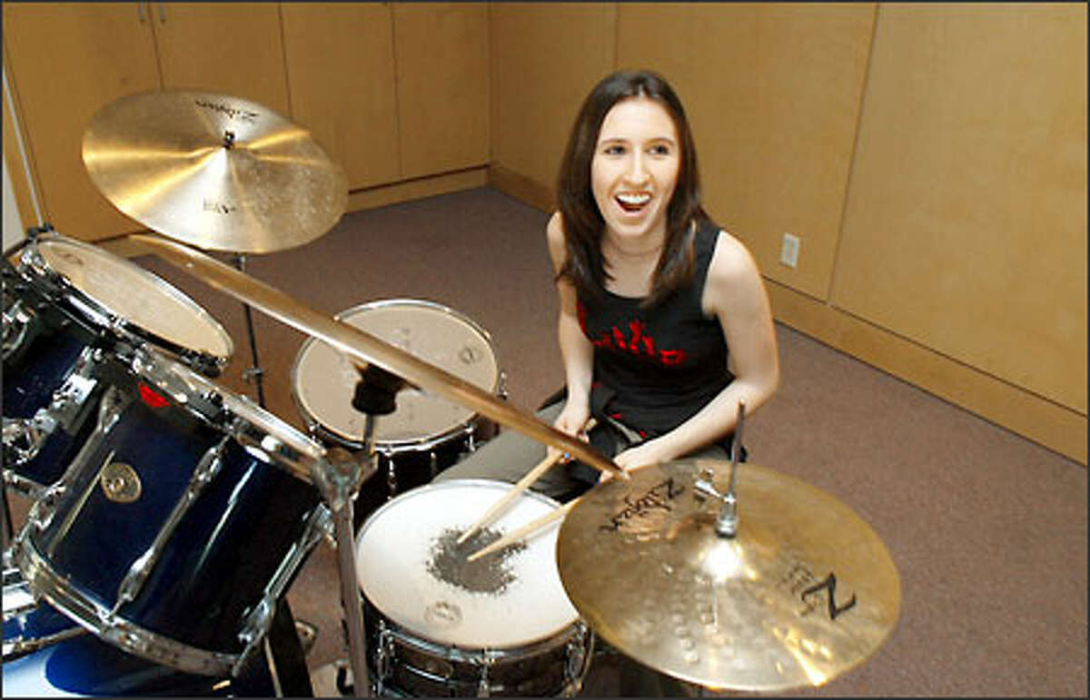 Laura Jawer, 14, of Redmond is the only girl in The Weeds, a band that will play at