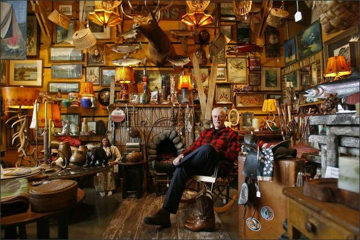 Darold Andersen, owner of Mort's Cabin on Eastlake in Seattle.