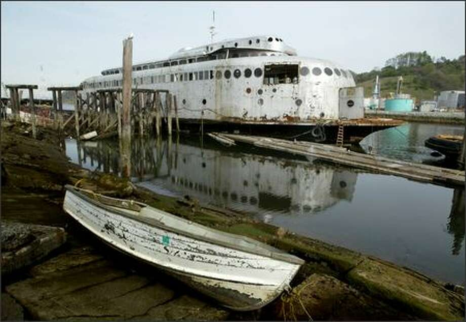 The Kalakala's owner says chances of the ferry's long-term survival are better now that it's on the National Register of Historic Places. Photo: Scott Eklund, Seattle Post-Intelligencer / Seattle Post-Intelligencer