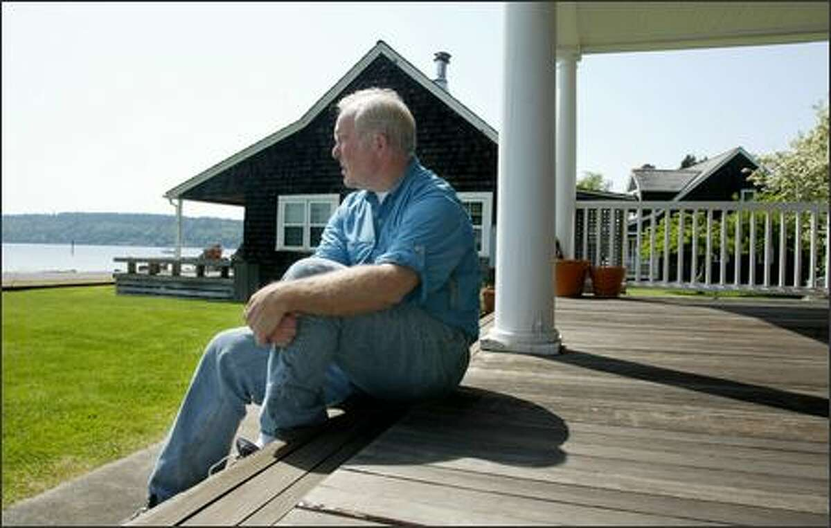 Ex-Gov. Booth Gardner, shown on the front porch of a family home on Vashon Island, was diagnosed in 1995 with Parkinson's disease. He wants control over his death and is one of the leaders of a campaign to legalize assisted suicide in Washington.