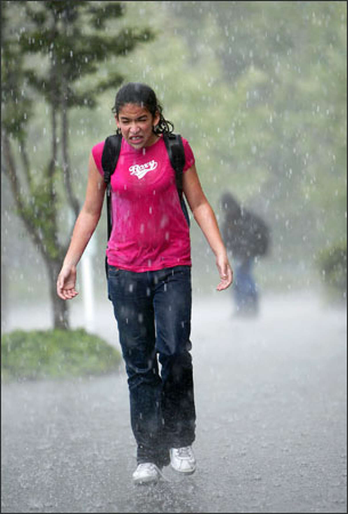 Sarah Taylor, 13, was caught off guard by a storm as she walked home from school in Federal Way.