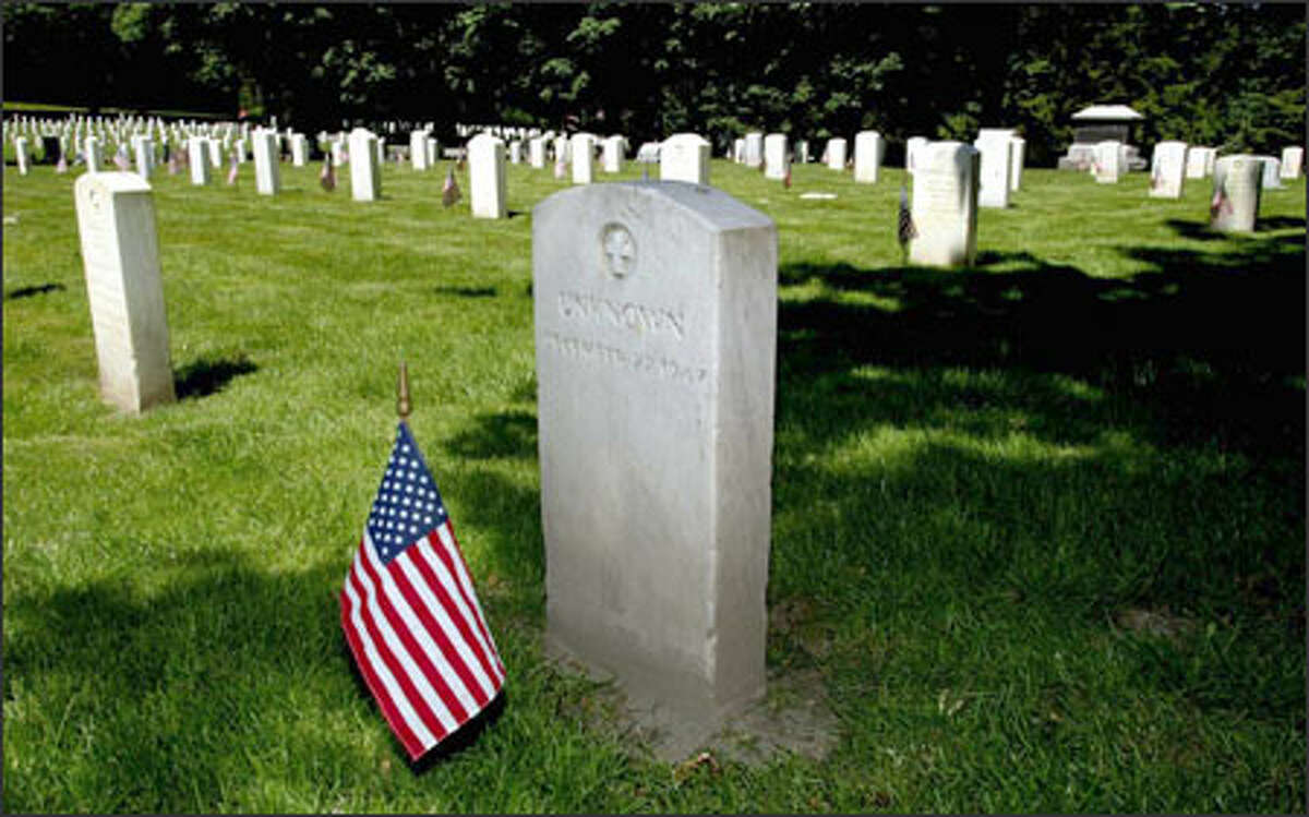 The grave of a crewman is at Fort Lawton Cemetery in Seattle. He died in 1947, when his Army freighter broke apart off the Queen Charlotte Islands.
