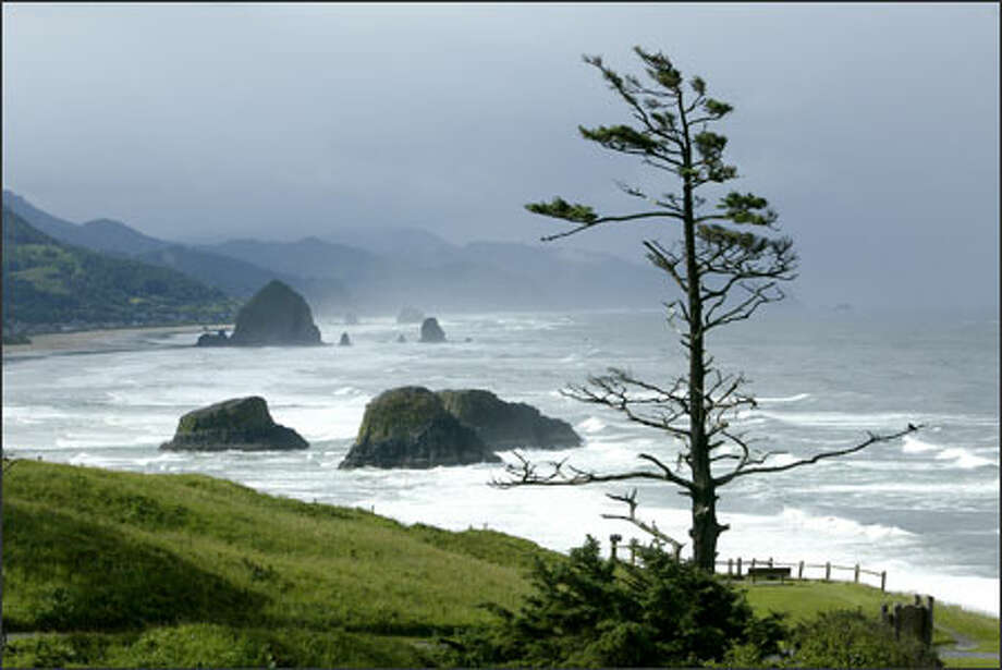 The rugged Oregon coast looking north toward Lincoln City. Photo: Mike Urban, Seattle Post-Intelligencer / Seattle Post-Intelligencer