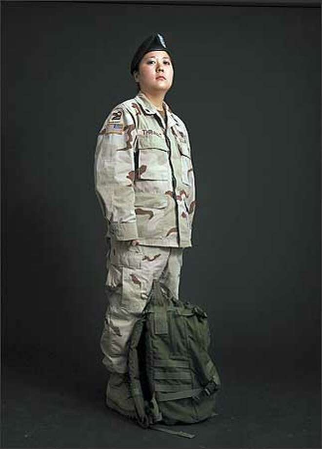 Spc. Heather Thibault spent 11 months in Iraq as a medic with the Washington National Guard. Photo: Meryl Schenker, Seattle Post-Intelligencer / Seattle Post-Intelligencer