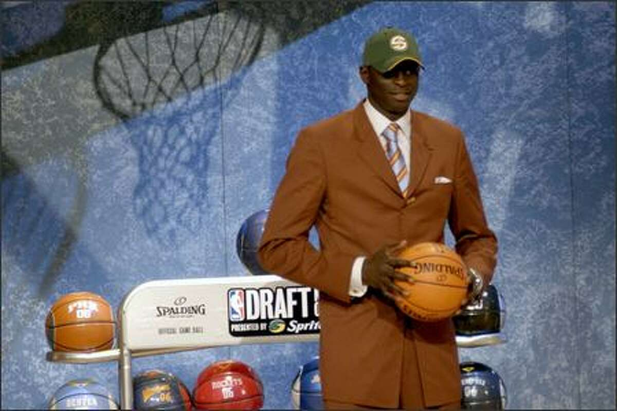 Saer Sene of Senegal is drafted in the 10th position by the Sonics.