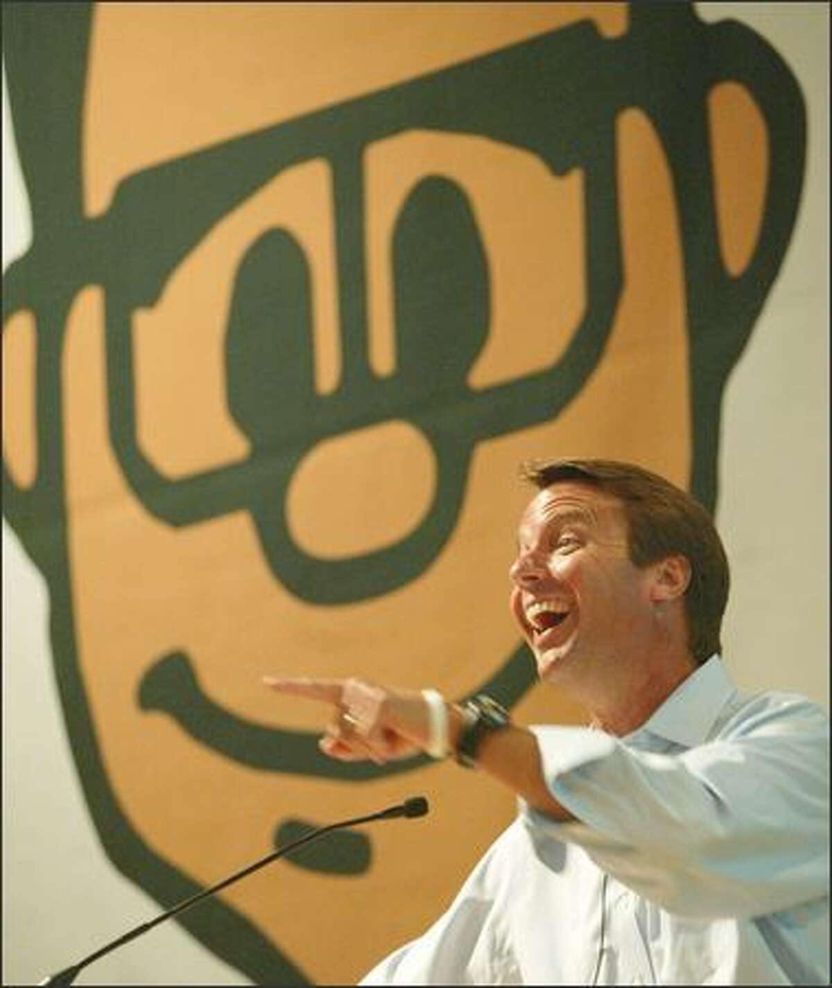 Sen. John Edwards was in agreement with many attendees of Friday's Gnomedex Technology Conference.