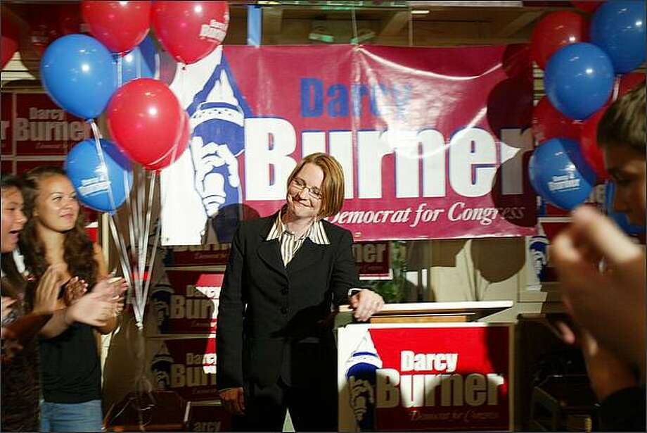 Darcy Burner has run three times for Congress. She lost to Republican Rep. Dave Reichert in 2006 and 2008, running in the 8th District. She's now running in the newly rejiggered 1st District. Photo: Karen Ducey, Seattle Post-Intelligencer / Seattle Post-Intelligencer