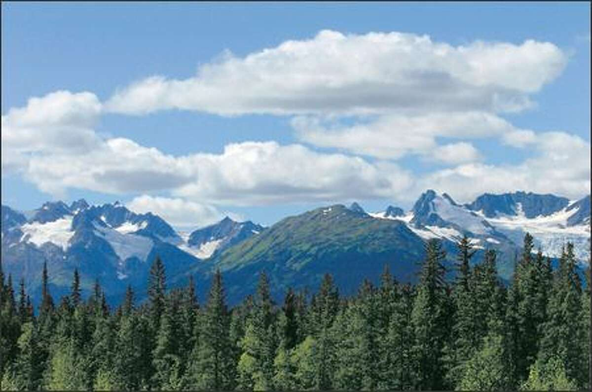 A mountain range southwest of Kinaskan Lake Provincial Park in Northern British Columbia.