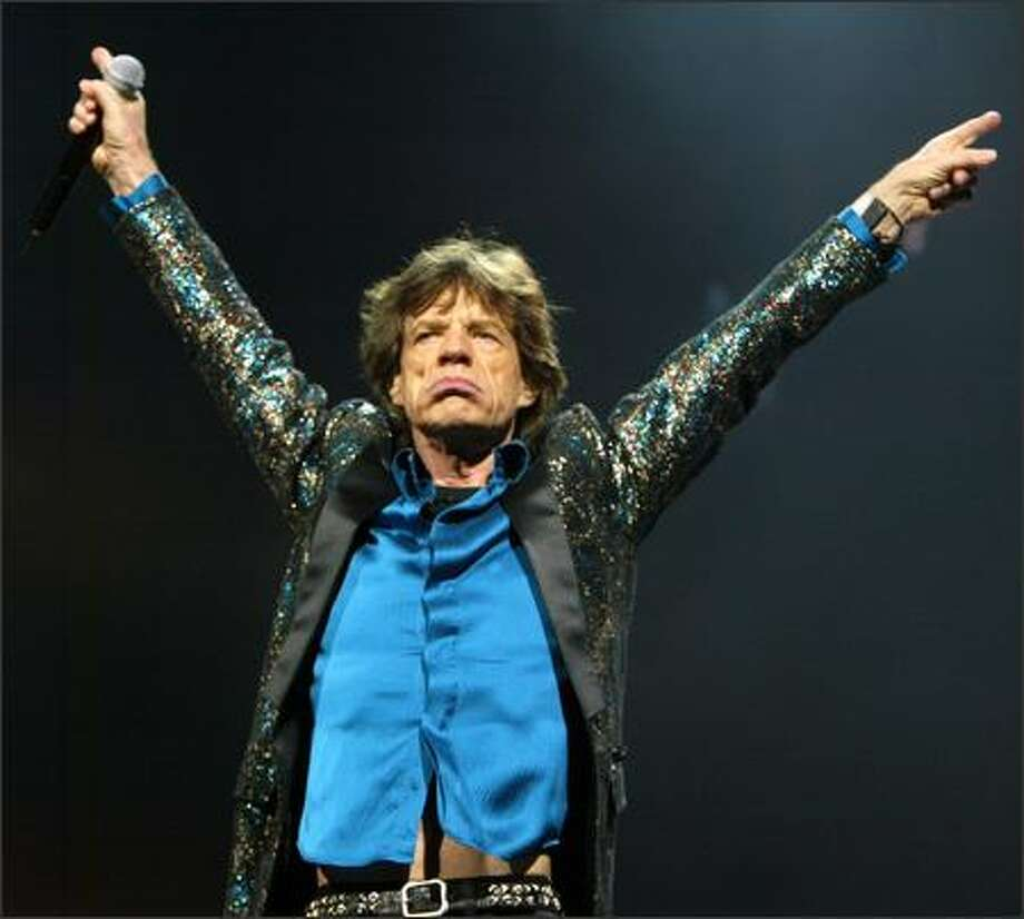 Mick Jagger showed that he still knew how to captivate an audience during the Rolling Stones' KeyArena show. Photo: Grant M. Haller, Seattle Post-Intelligencer / Seattle Post-Intelligencer