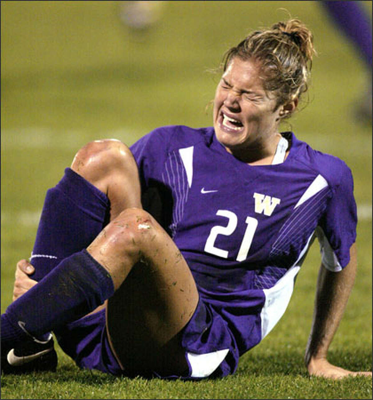 It's been a tough season all around for Kim Taylor, the only senior on the UW women's soccer team. Taylor is seventh in UW career goals but has none this season.