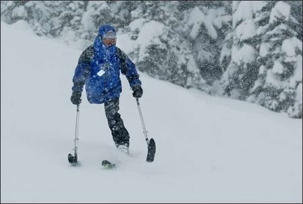 It was the kind of day dreams are made of as Kris Lanning of Ravensdale hit the slopes Friday at Crystal Mountain ski resort. Lanning lost his leg in 1992 in a motorcycle accident and was in a coma for 11 weeks. During that time, he said,