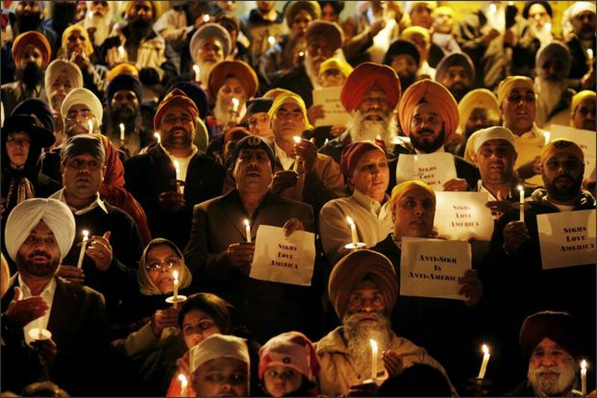 Hundreds of Sikh's held a vigil for Sukhvir Singh at Gurdwara Singh Sabha. Singh, a Sikh cab driver from Seattle, was assaulted by a passenger over the Thanksgiving weekend.