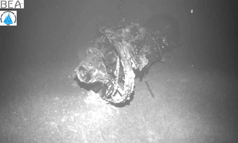 An image of an engine from Air France flight 447, which crashed on June 1, 2009 between Rio de Janeiro and Paris, killing all aboard. Photo: BEA
