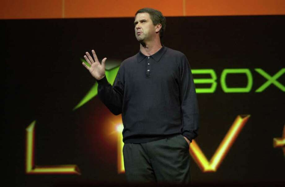 Robbie Bach, senior vice president of games for Microsoft, speaks at E3 in Los Angeles on May 10, 2004. Microsoft introduced the Xbox Live gaming network, which has likely turned into one of the company's billion-dollar businesses. (Susan Goldman/Bloomberg News) Photo: SUSAN GOLDMAN, BLOOMBERG NEWS