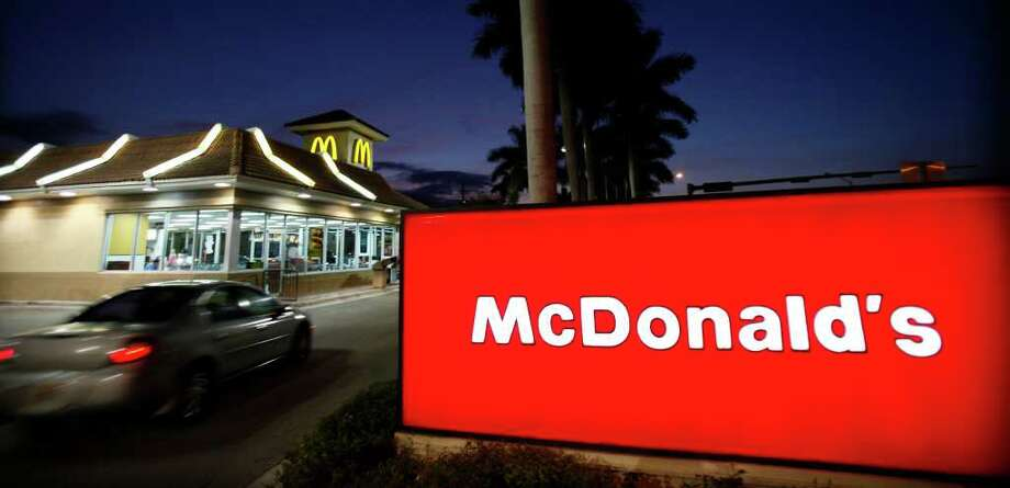 FILE - In this Jan. 20, 2010 file photo, a McDonald's restaurant is shown in Doral, Fla. McDonald's Corp. plans to hold its first national hiring day April 19, 2011, to fill 50,000 openings nationwide, seeking to lure new employees in a tough job market.(AP Photo/Wilfredo Lee, file) Photo: Wilfredo Lee