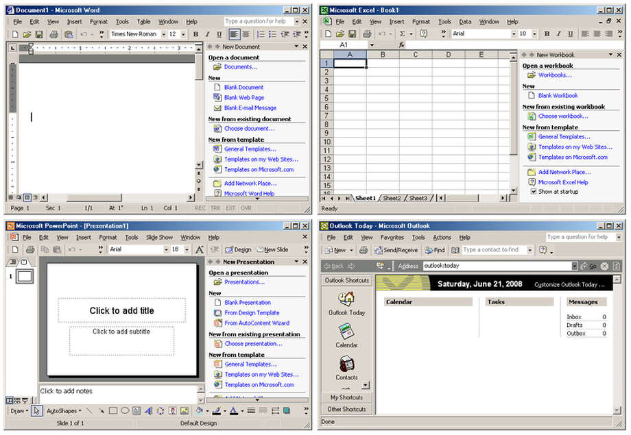 Office XP, designed for use on the then-upcoming OS Windows XP, was released on May 31, 2001. (Wikimedia image) Photo: Seattlepi.com