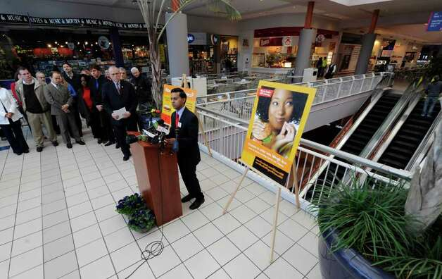 "The food court at Crossgates Mall in Guilderland, N.Y., was chosen as the Capital Region kick-off location for the ""I Choose 600"" obesity prevention campaign message as part of National Public Health Week by Dr. Nirav R. Shah, New York State health commissioner, on April 4, 2011.  (Skip Dickstein / Times Union) Photo: Skip Dickstein / 2008"