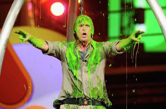 LOS ANGELES, CA - APRIL 02:  Actor Jim Carrey gets slimed onstage during Nickelodeon's 24th Annual Kids' Choice Awards at Galen Center on April 2, 2011 in Los Angeles, California.  (Photo by Kevork Djansezian/Getty Images) *** Local Caption *** Jack Black Photo: Kevork Djansezian, Getty Images / 2011 Getty Images