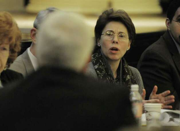 Merryl Tisch, New York State Regents chancellor, asks a question during a New York State Board of Regents meeting on Monday, April 4, 2011, at the State Education building in Albany, NY.  The meeting was held for board members to hear from and to question those who worked on the Regents Task Force on Teacher and Principal Effectiveness report.  (Paul Buckowski / Times Union) Photo: Paul Buckowski  / 00012631A