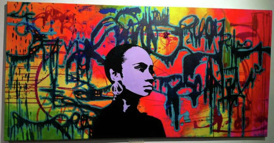 'Untitled,' by A. Nailah, is among the works in 'A Beautiful Crime,' an art show that features graffiti, street and pop artists. The works are on display at the Read's ArtSpace gallery through April 30. Hours are 12 to 5 p.m. Saturdays, or by appointment. Photo: Contributed Photo / Stamford Advocate Contributed