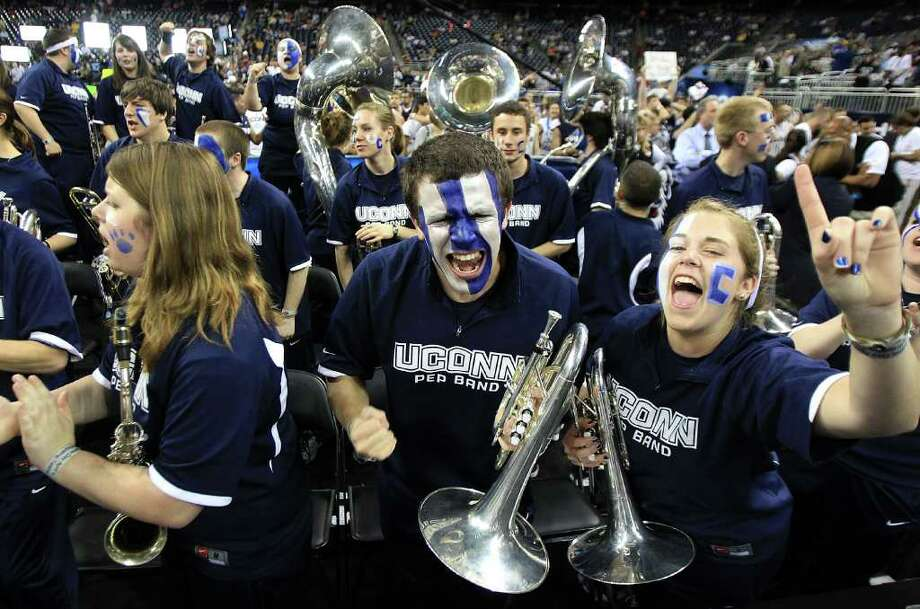 HOUSTON, TX - APRIL 04:  Members of the Butler Bulldogs band cheer prior to the National Championship Game of the 2011 NCAA Division I Men's Basketball Tournament at Reliant Stadium on April 4, 2011 in Houston, Texas.  (Photo by Streeter Lecka/Getty Images) Photo: Streeter Lecka, Getty Images / 2011 Getty Images