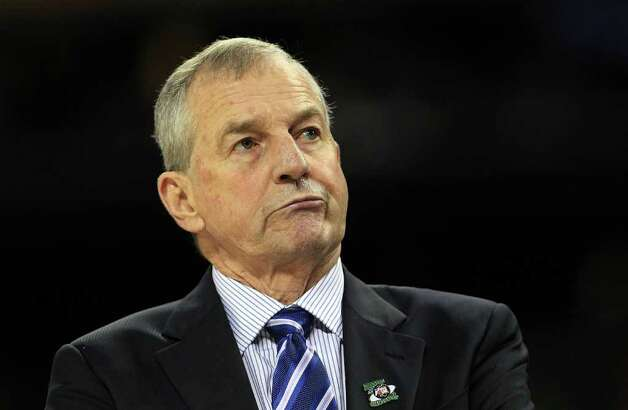 HOUSTON, TX - APRIL 04:  Head coach Jim Calhoun of the Connecticut Huskies looks on from the sidelines against the Butler Bulldogs during the National Championship Game of the 2011 NCAA Division I Men's Basketball Tournament at Reliant Stadium on April 4, 2011 in Houston, Texas.  (Photo by Streeter Lecka/Getty Images) *** Local Caption *** Jim Calhoun Photo: Streeter Lecka, Getty Images / 2011 Getty Images