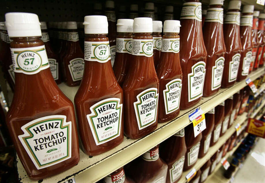 Ketchup  Ketchup cleans up brass. Just let it sit for five to 10 minutes, then wipe. But don't try it on worn surfaces, plastics and fabrics. Photo: Courtesy Photo