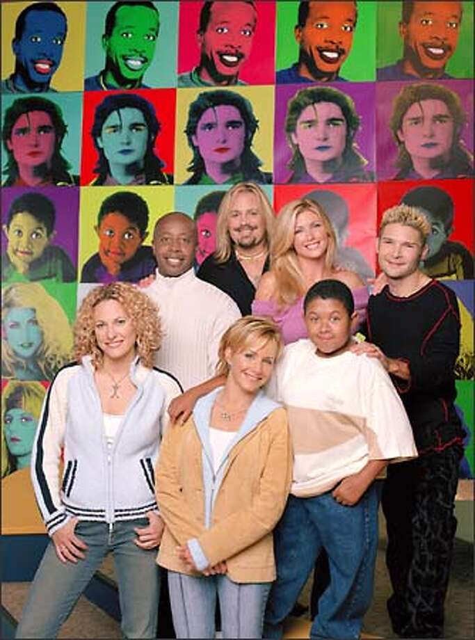 "Do you remember all these people?  The cast of The WB's ""The Surreal Life"": (front, l-r) Jerri Manthey, Gabrielle Carteris, Emmanuel Lewis; (back, l-r) MC Hammer, Vince Neil, Brande Roderick, Corey Feldman. Photo: The WB / The WB"