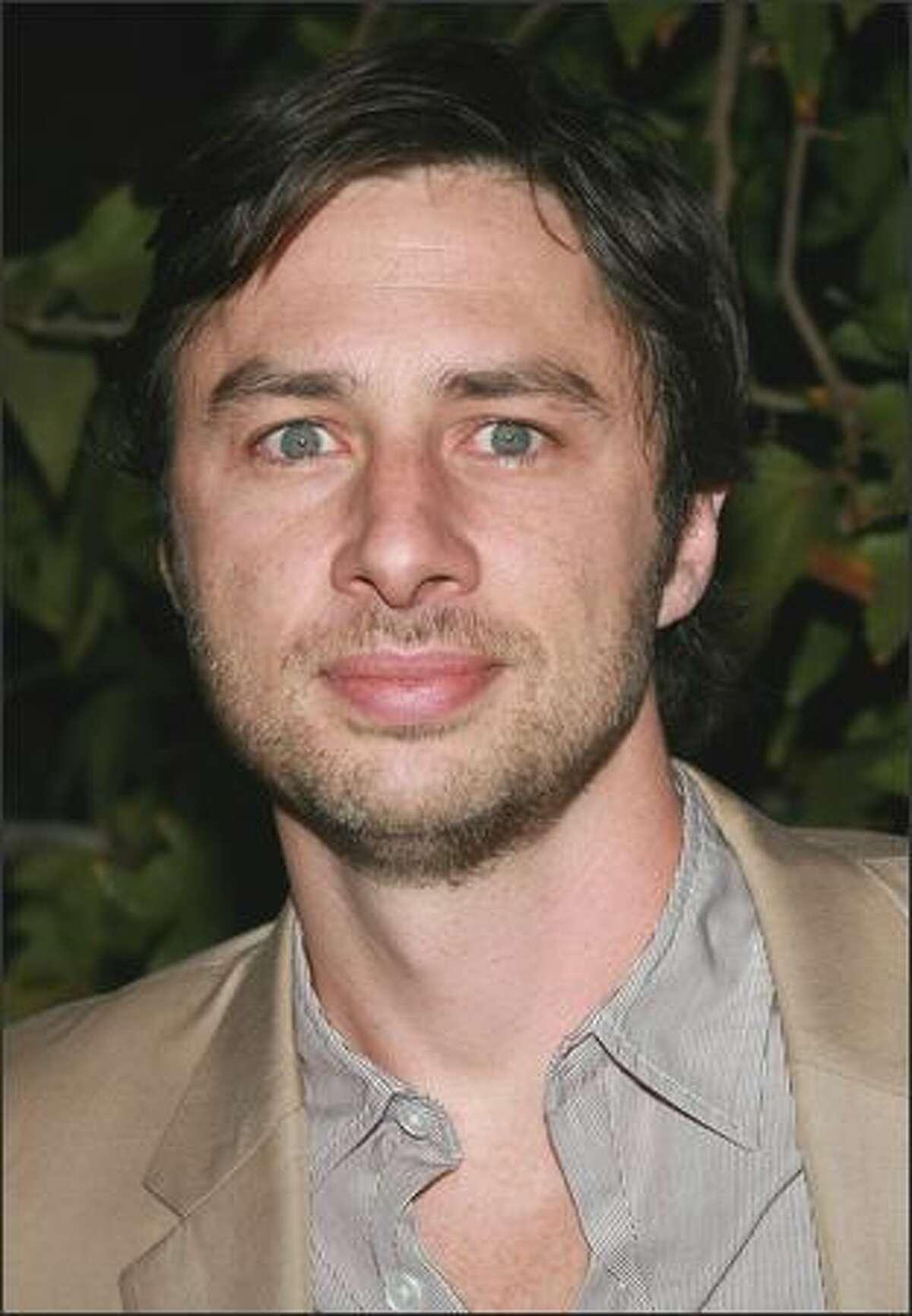 "Zach Braff plays J.D. on ABC TV's ""Scrubs."""