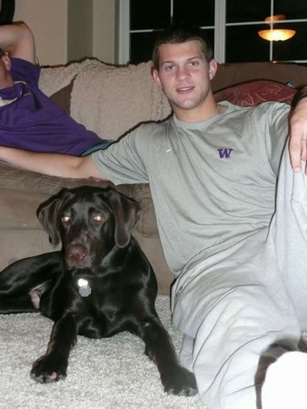 Jake Locker and his dog, Ten.
