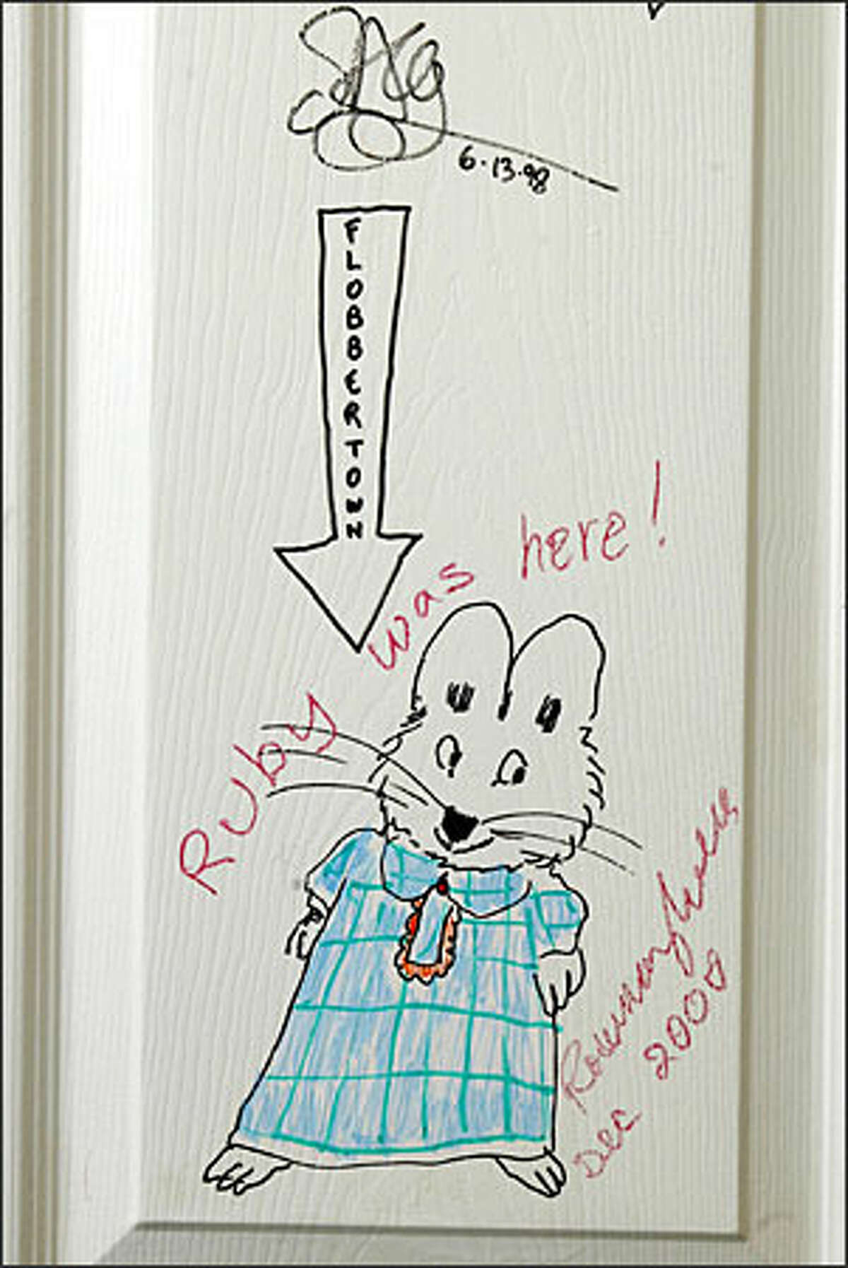 Author/illustrator Rosemary Wells has left her mark at the All For Kids store.
